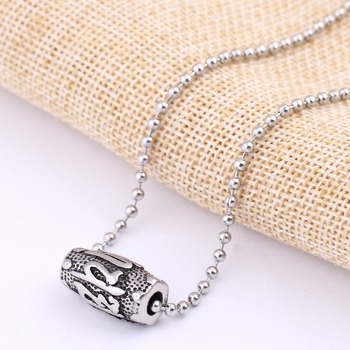 Stainless Steel Ball Chain Stainless Steel Bead Pendant Necklace