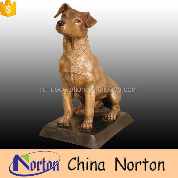 Jard n ornamento personalizado perro de bronce de tama o for Ahuyentar perros del jardin