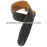 "3 1/2"" WIDE PADDED GARMENT LEATHER BASS GUITAR STRAP"