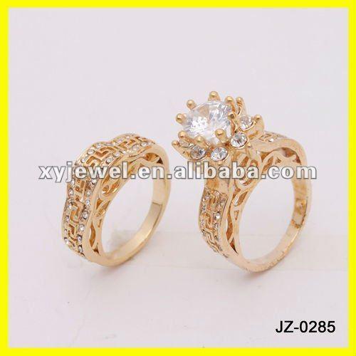 Turkish Flower Diamond Wedding Rings Set In 14k Yellow Gold Buy
