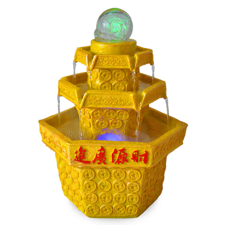 Indoor water gifts to the financial resources of the wide range of gold ornaments decorated ornaments indoor fountain