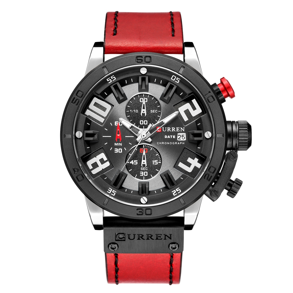 CURREN 8312 Men Japan Quartz Movement Watch Fashion&Casual Leather Band Business Watch Auto <strong>Date</strong>