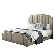 Aangepaste home hotel slaapkamer luxe Italiaanse 1.8 m dubbele King-size <span class=keywords><strong>lederen</strong></span> bed interieur postmoderne <span class=keywords><strong>lederen</strong></span> art zacht bed