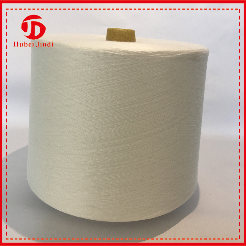 30/1 Virgin Ring Spun Polyster Yarn and 60s 3 Semi Virgin Weaving 100 Polyester Spun Yarn