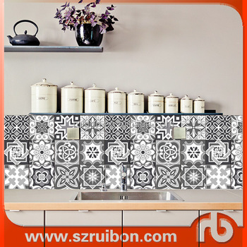 removable wall kitchen tile stickers,wall decor stickers,waterproof