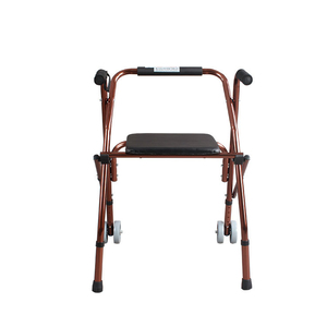 Aluminum Alloy Foldable Walker with Wheels