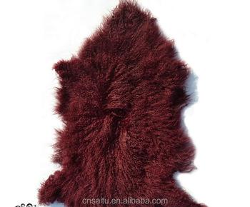 Mongolian Lambskin Fur Rug Tibetan Sheepskin Lamb Pelt For Chair Sofa Floor