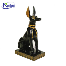 Italiano seduta greyhound dog statue brass NTBA-D030Y