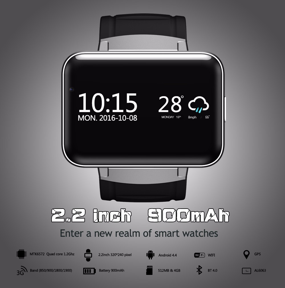 d1a27b25475 SPECS for Letine OEM cheap smart watch DM98 Touch Screen 4G 3G Android  smart watch phone online shopping