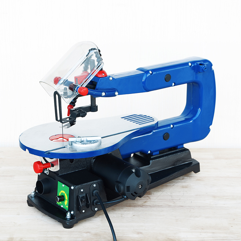 Precision variable speed woodworking scroll saw
