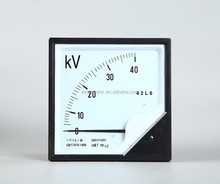 35KV/100V Pointer type Ac voltmeter 120*120 Ac voltage indicator 750V voltage meter