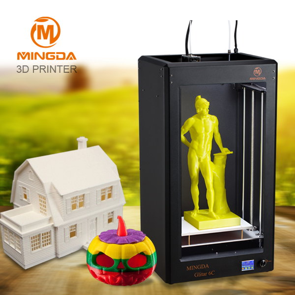 high resolution MINGDA industial 3D printer machine digital large format 3d printer price(300*200*600mm)