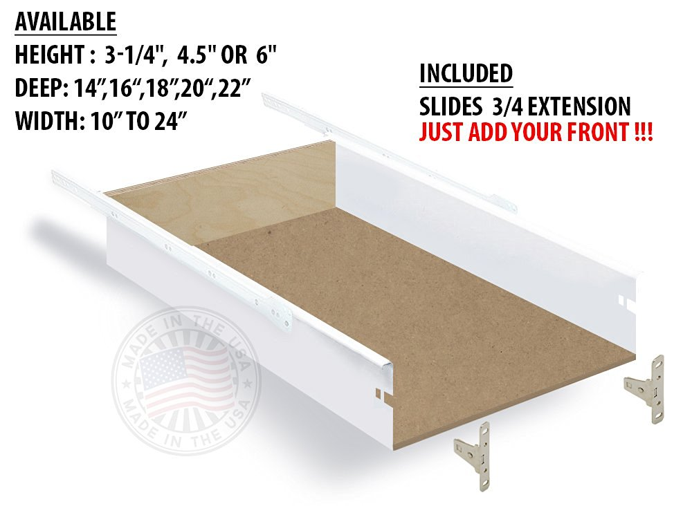 """Drawer with Metal Box System, 6"""" H x 18"""" D x 19-1/4""""W"""
