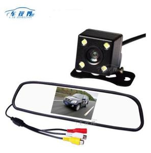 "Car Horizon 4.3"" TFT LCD Auto Parking Rear View 4.3 Inch Car Mirror Monitor With Led Car Camera"