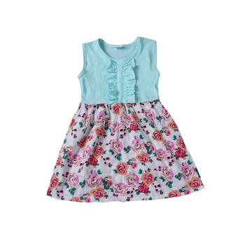 Yawoo 2017 summer hot sale cute style kids girls boutique dress soft cotton smart princess tutu dress smock skirt
