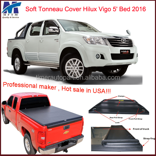 Hilux accessories soft bed cover for toyota Hilux Vigo 2016 5' Bed