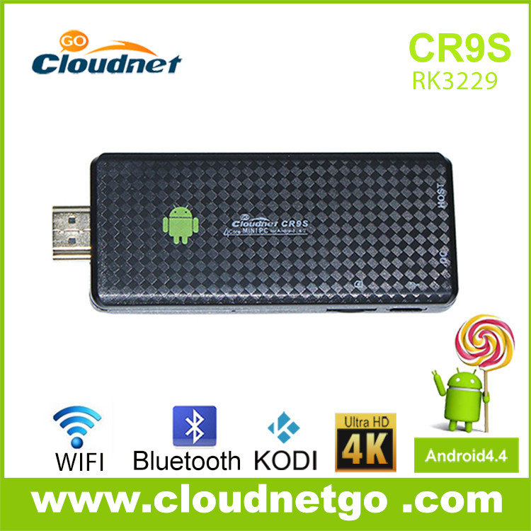Quad Core RK3229 Android HDMI Smart TV Dongle Stick with Bluetooth Remote