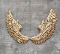 Industrial 3d Large Angel Wings Wall Decor with iron for Living Room Bar Clothing Store Interior Decoration