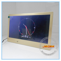 chinese metal classic hd display 10 inch golden digital photo frames