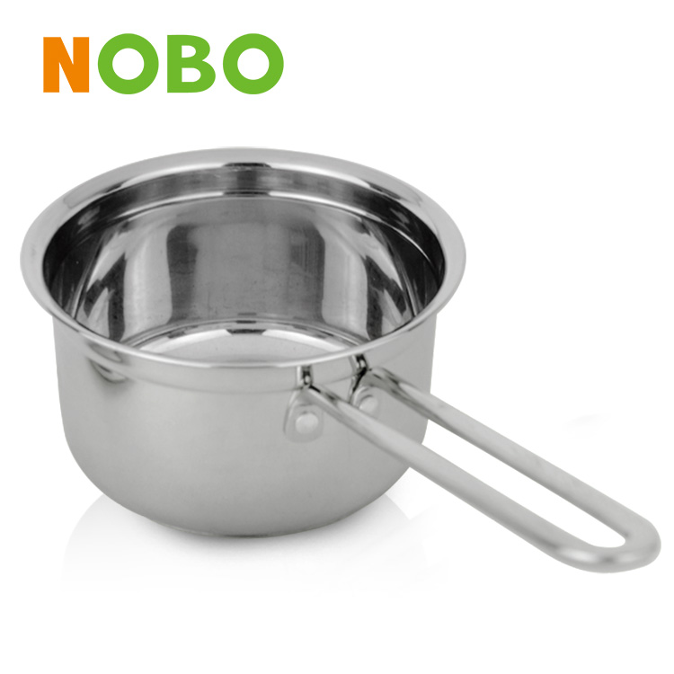 Italian Elegant milk pan stainless steel soup pot with glass lid