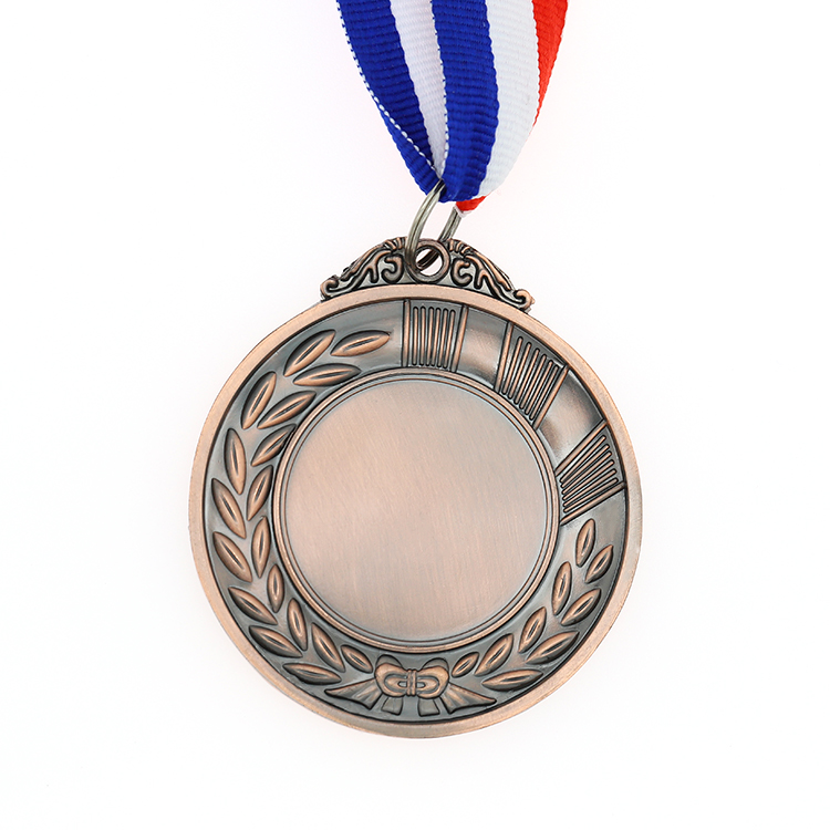 Promotion <strong>metal</strong> 3D bronze cheap sports blank medal with hanger