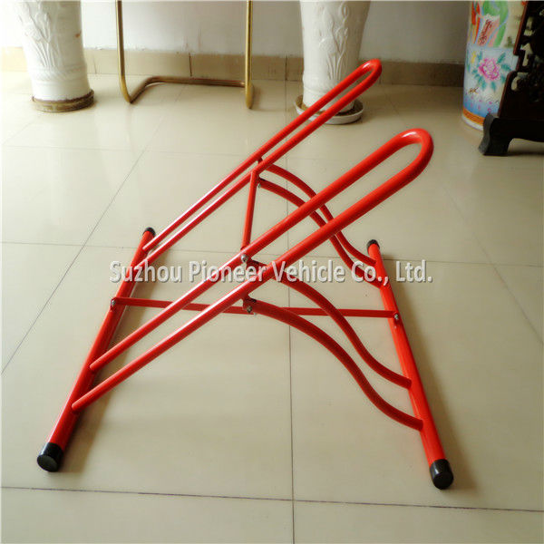 strong and durable indoor used assembly folding floor mounted bike rack