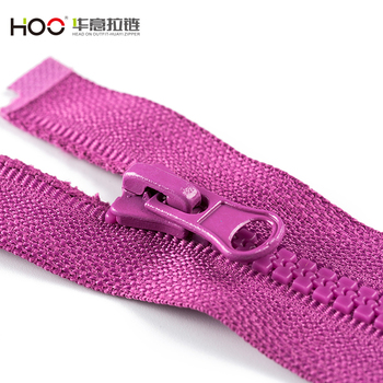 Low cost durable 3# open end plastic zipper