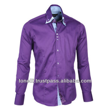 Cly Mens Purple Office Shirts Whole