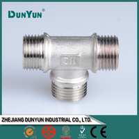 Best material Tee brass pipe fitting