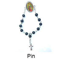 3 hole rosary centerpiece metal medal