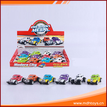 Hot product alloy pull back small road set toy cars for kids