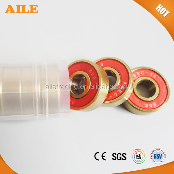 Free Shipping ABEC 11 Golden Color 608 <strong>Bearings</strong> For Roller Skate