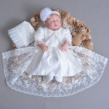 fa6ff5e79 Newborn Birthday Clothes Flower Christening Ball gownToddler Girls Princess  Baptism Dresses for Baby Girl 1 Year