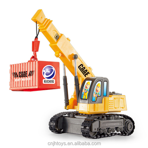 Toys for Supermarket Sale Cheap Wire Control Construction Vehicles Toy Caterpillar Crane Trucks
