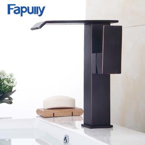 Fapully Black taps and mixers high quality basin faucets oil rubbed bronze single handle brass basin faucets