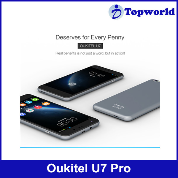In Stock Original OUKITEL U7 Pro Android 5.1 5.5'' MTK6580 Quad Core 1280 x 720 HD 1GB RAM 8GB ROM 8.0MP Dual SIM WCDMA