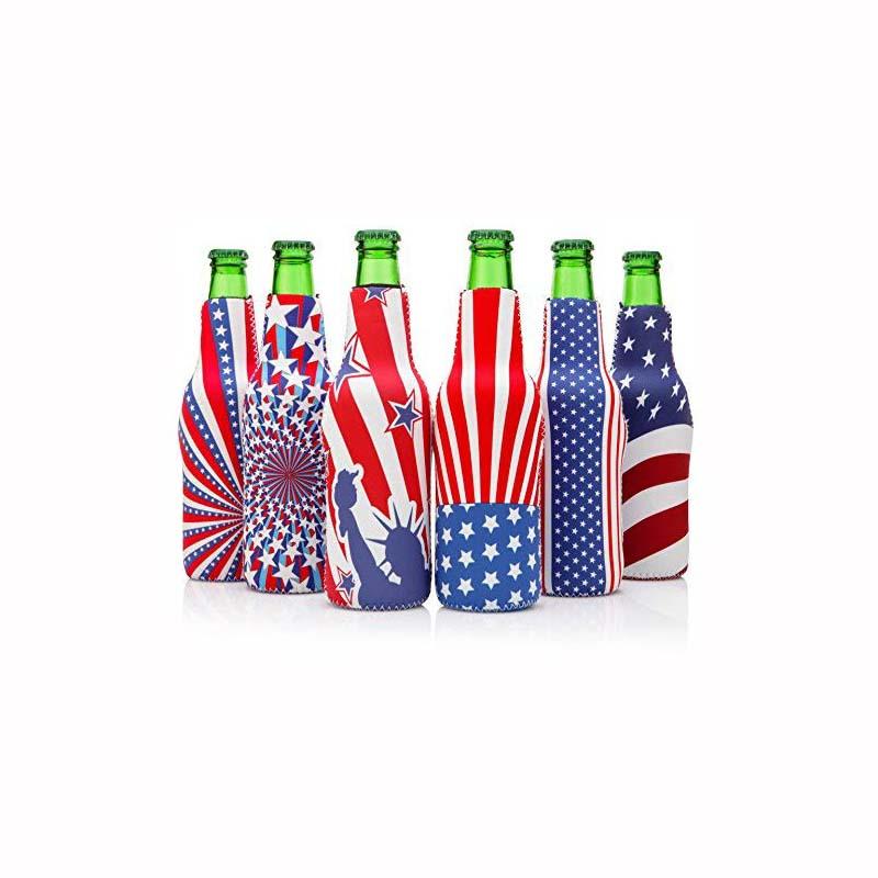 EDIOM Awesome Gift Custom Bottle Cooler Trendy Neoprene Beer Bottle Sleeve