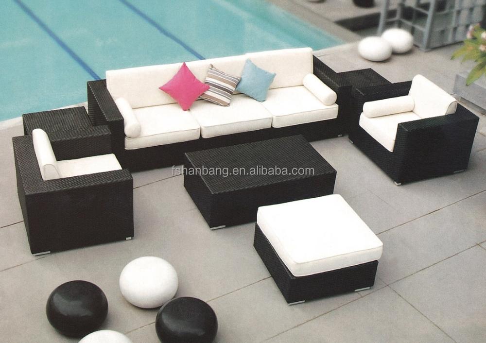 Rattan Outdoor Furniture Patio Wicker Sectional Sofa Set