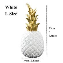 VILEAD 3 размера 9,8 ''7,8'' 5,9 ''полимерные ананасовые миниатюрные фигурки золотого, черного и белого цветов, модель фруктов, поделки для украшения д...(Китай)