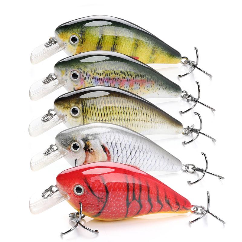 Accept ODM / OEM 6cm 12.6g treble hooks artificial fishing bait wholesale crank fishing lures