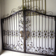 HS-001 steel sheet cover board main tubular wrought iron grill gate design