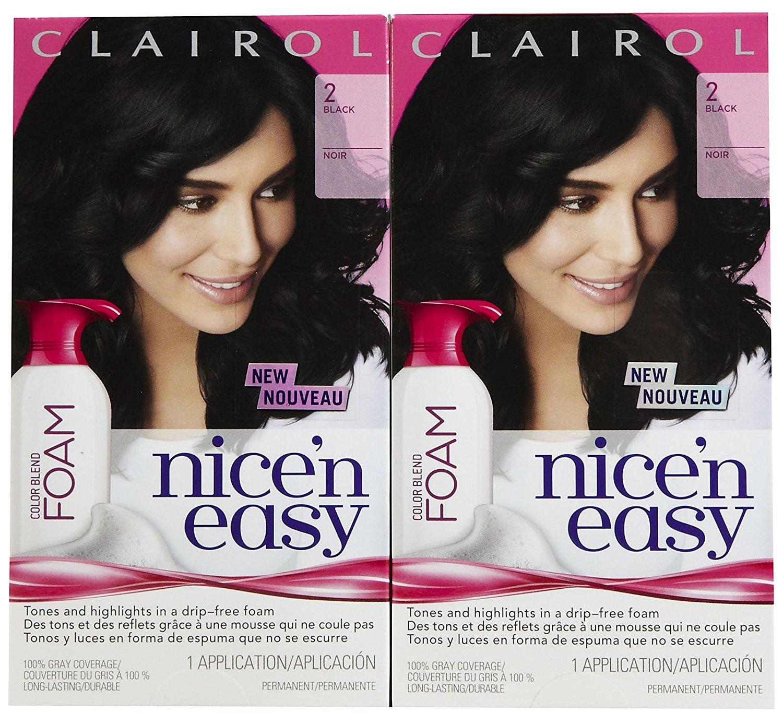 Buy Clairol Nice N Easy Color Blend Foam Hair Color 2 Black 2 Pk
