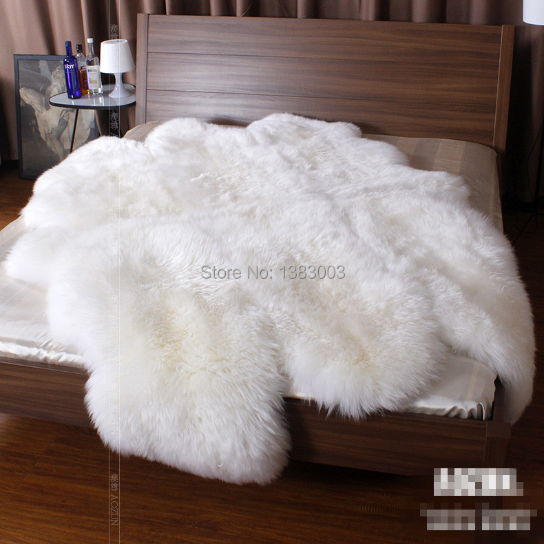 Lamb Fur Rug Home Decor