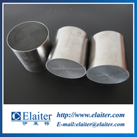 Honeycomb metallic/metal catalytic substrate for universal exhaust system