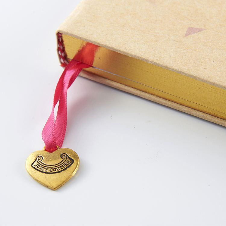 sketchbook glued on top gold edge kraft ELASTIC NOTEBOOK with pendant