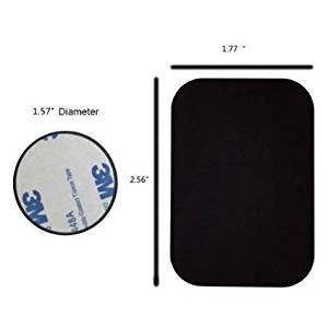 Mount Metal Plate with Adhesive Replacement Metal Plate kits For All Magnetic Cradle Cellphone Holder 2 Rectangle and 2 Round, Black Morzen Mounts)