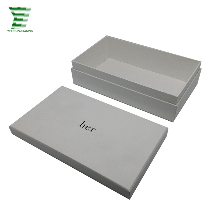 Yifeng custom printed paper storage shoe box packaging with logo