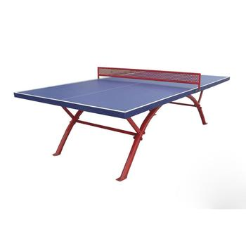 Waterproof Outdoor Table Tennis Table Metal Leg And Net, Glossy Table Top