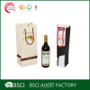 Wholesale logo printed fancy retail paper wine bag