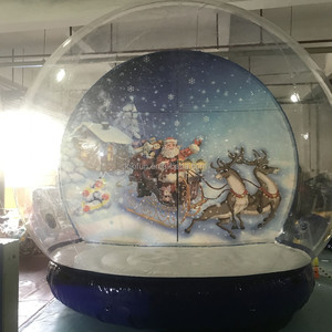 New Design Commercial Activity Giant Inflatable Snow Globe, Take Photo Inflatable Indoor Human Snow Globe Dome For Sale